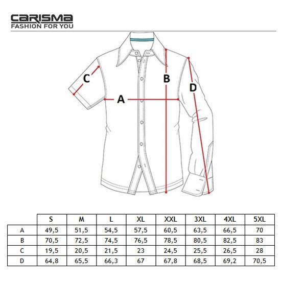 CARISMA košile pánská 9002 krátký rukáv slim fit - EGO-MAN.CZ 92e72ae1df